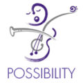 "The OrKidstra logo with the word ""Possibility"" underneath"