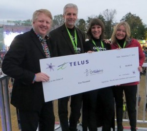 Corporate Donation from TELUS - Folk Fest 2013