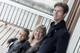 A picture of teacher Chris Neale with his family