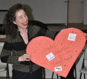 Angela With Her Valentine Card