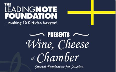 wine, cheese and chamber fundraiser for Sweden
