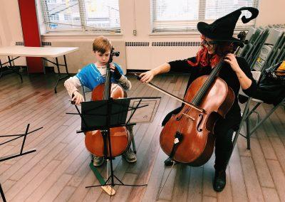 Darian cello halloween